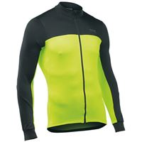 FORCE 2 JERSEY LS FULL ZIP BLACK/YELLOW FLUO