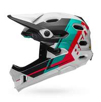 BELL CASCO SUPER DH MIPS WHITE EMERALD HIBISC US RECOURSE