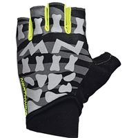 NEW SKELETON SHORT GLOVES BLACK YELLOW FLUO