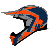ONEAL FURY HELMET HYBRID BLUE ORANGE