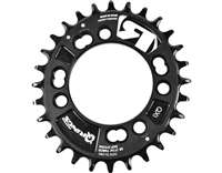 CHAINRING QX1 MTB, 4-ARM, Q-RINGS, 76 MM BCD
